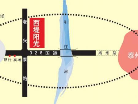西堤阳光交通图