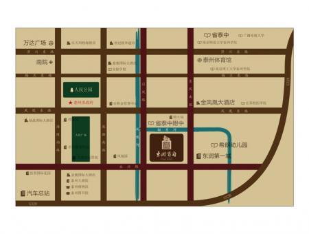 东润首府 别墅交通图