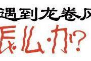 【科普】突遇龙卷风怎么办?