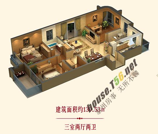 在泰州买哪种户型将来不需换房 三房两卫一步到位